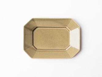 八角プレート M グレージュ (グレー釉) の画像