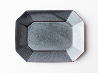 八角プレート L 濃灰 (いぶし釉) の画像