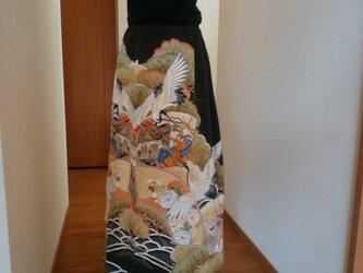 着物リメイク ♡ 美しい鶴の舞うスカートの画像
