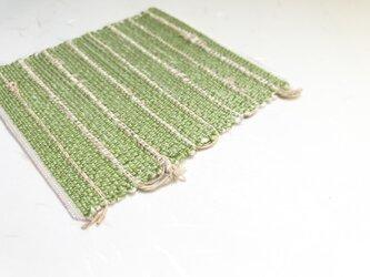 :藤布のコースター:緑の画像