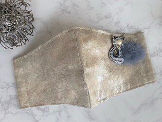 マスクチャーム 猫ミンク(ブルー)の画像