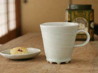 磁器くし目入りマグカップ m70 和食器 陶芸 美濃焼 フリーカップ ゴブレット 父に日 素敵 プレゼント 結婚祝いの画像