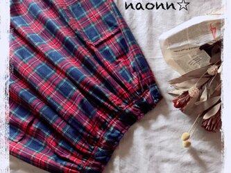 タータンチェックのギャザースカートの画像