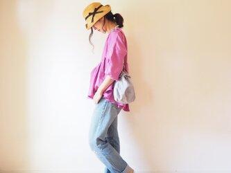 ◯予約商品◯French linen gather blouse PINKの画像