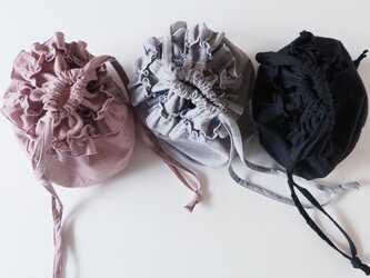 Cotton linen frilled bagの画像