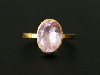 古代スタイル*天然モルガナイト 指輪*7号 GPの画像