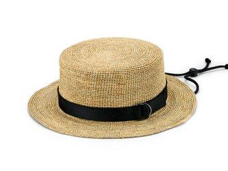 Abel アベル ラフィア カンカン帽子 モカ 58cm [UK-H099-MO]の画像
