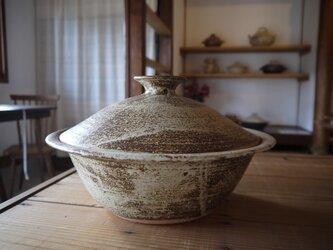 土鍋(灰釉) 9号の画像