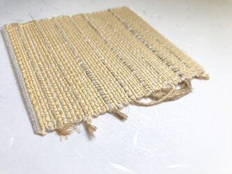 :藤布のコースター:淡黃色の画像