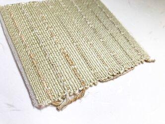 :藤布のコースター:薄緑の画像