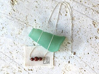 漆塗丸玉付首飾「首里赤」桜花弁柄 rp-87の画像