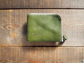 ファスナー財布 グリーン【受注製作】の画像