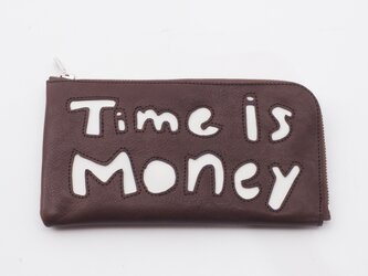 CowLeather LongWallet [time is money](濃茶)18×9/財布/wl001timeの画像