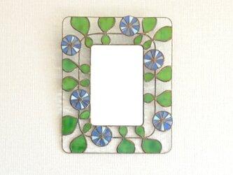 『夏想う』 ステンドグラス 壁掛け鏡の画像