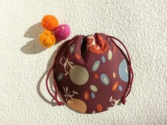 ミニ巾着 月とうさぎ色 御守り 小物収納 プレゼント ギフト袋としても の画像