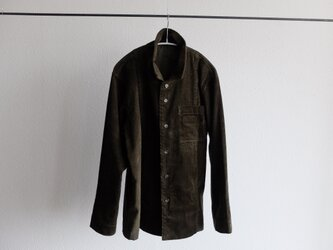 【シーズン限定】木間服装製作 / shirt コーデュロイ khaki / unisexの画像
