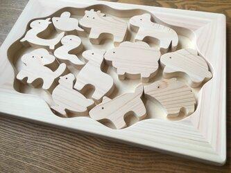 お風呂で遊べる 十二支のパズルの画像