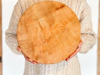 木のお皿、カッティングボード(大きな丸)3の画像