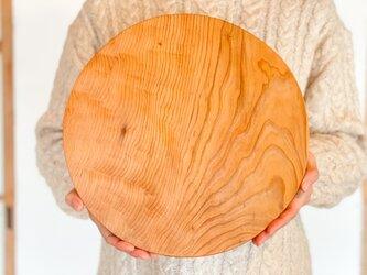 木のお皿、カッティングボード(大きな丸)5の画像