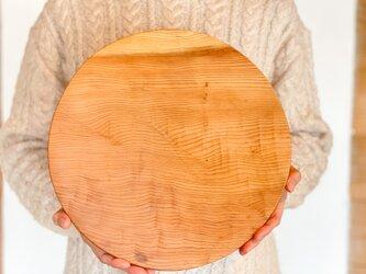 木のお皿、カッティングボード(大きな丸)7の画像