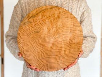 木のお皿、カッティングボード(大きな丸)11の画像