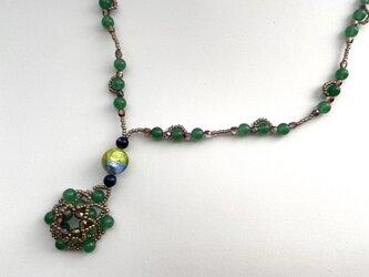 4食ベネチアンガラスのネックレスの画像
