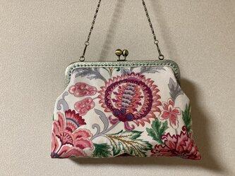 がまぐちバッグ・エキゾチック花柄の画像