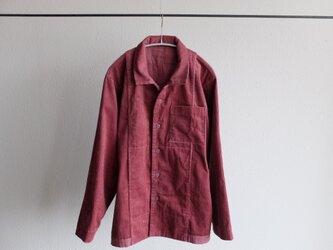 【シーズン限定】木間服装製作 / shirt コーデュロイ dark pink / unisexの画像