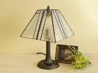 小菊ガラスのテーブルランプの画像