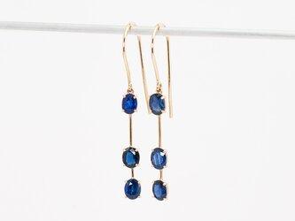 Sapphire earrings / Tripleの画像