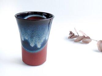 ✤再入荷✤:無名異焼のビールコップ:ブルー (小)の画像