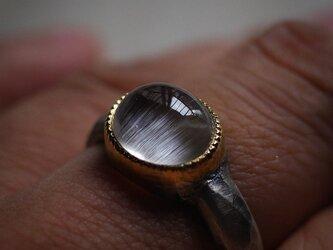 キャッツアイ・トパーズ 22KYG-silver925 の指環 -konukaame-の画像