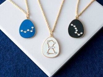 『Starry Sky』ネックレス:12星座とオリオン座, カシオペア座, 北斗七星の画像
