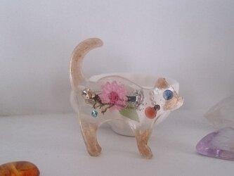 散歩猫 レジンブローチ・B (シャム)の画像