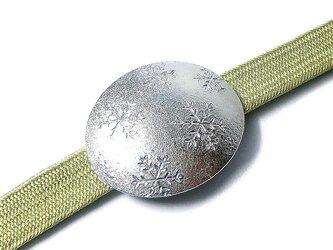 【一点物】5つの雪の結晶 帯留Ⅱの画像