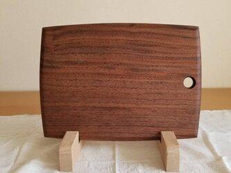 ブラックウォルナット一枚板のカッティングボードの画像