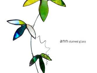 ステンドグラス グリーン3RF210117-Gの画像