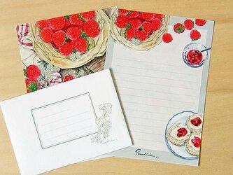 レターセット(A5)苺の画像