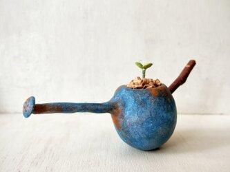 5398.bud 粘土の鉢植え ジョウロの画像