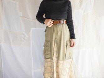 Jacquard asymmetry remake skirtの画像