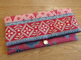 絹更紗の和のポーチの画像