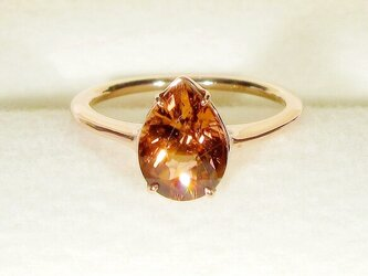1.65ctピンクトルマリンとSV925の指輪(リングサイズ:9号、サイズ変更可、ピンクゴールドの厚メッキ、天然石)の画像
