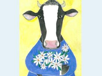 [A¥480] ポストカード 3枚set :033番 「牛と花」の画像