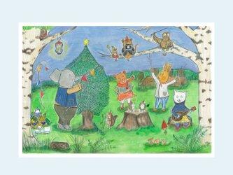 [A¥480] ポストカード 3枚set :028番 「森の中でダンス」の画像