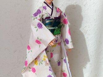 「無垢な白姫」28~30cmドール着物の画像