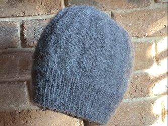 モヘア ニット帽 ・グレー ⭐︎再販4⭐︎の画像