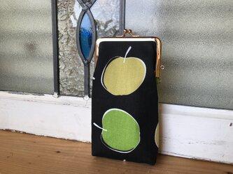 black apple 縦長がまぐち メガネケースの画像