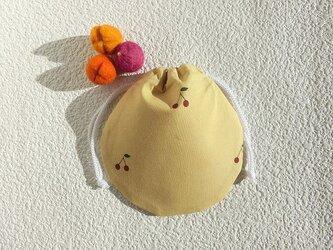 ミニ巾着 サクランボ 小物収納 プレゼント ギフト袋としても の画像