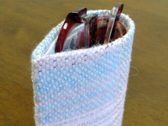 手織りのメガネケースの画像