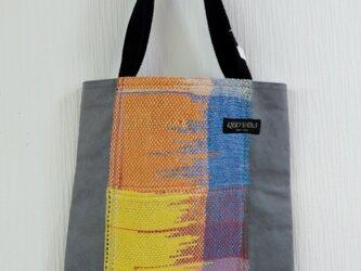 手織り 手提げかばんの画像